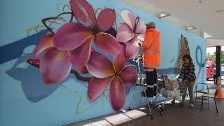 Rerenga Mural by Charles & Janine Williams December 2018