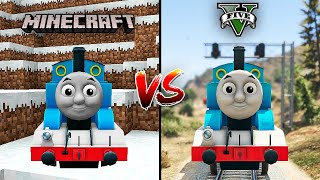 MINECRAFT THOMAS THE TRAIN VS GTA 5 THOMAS THE TRAIN - Which is best?