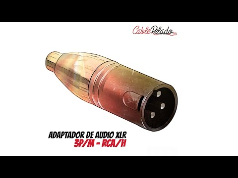 Video de Adaptador XLR mono 3 pin macho - RCA hembra  Gris