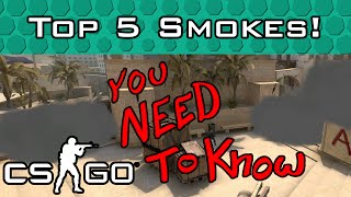 Top 5 Smokes You NEED to Know in CSGO