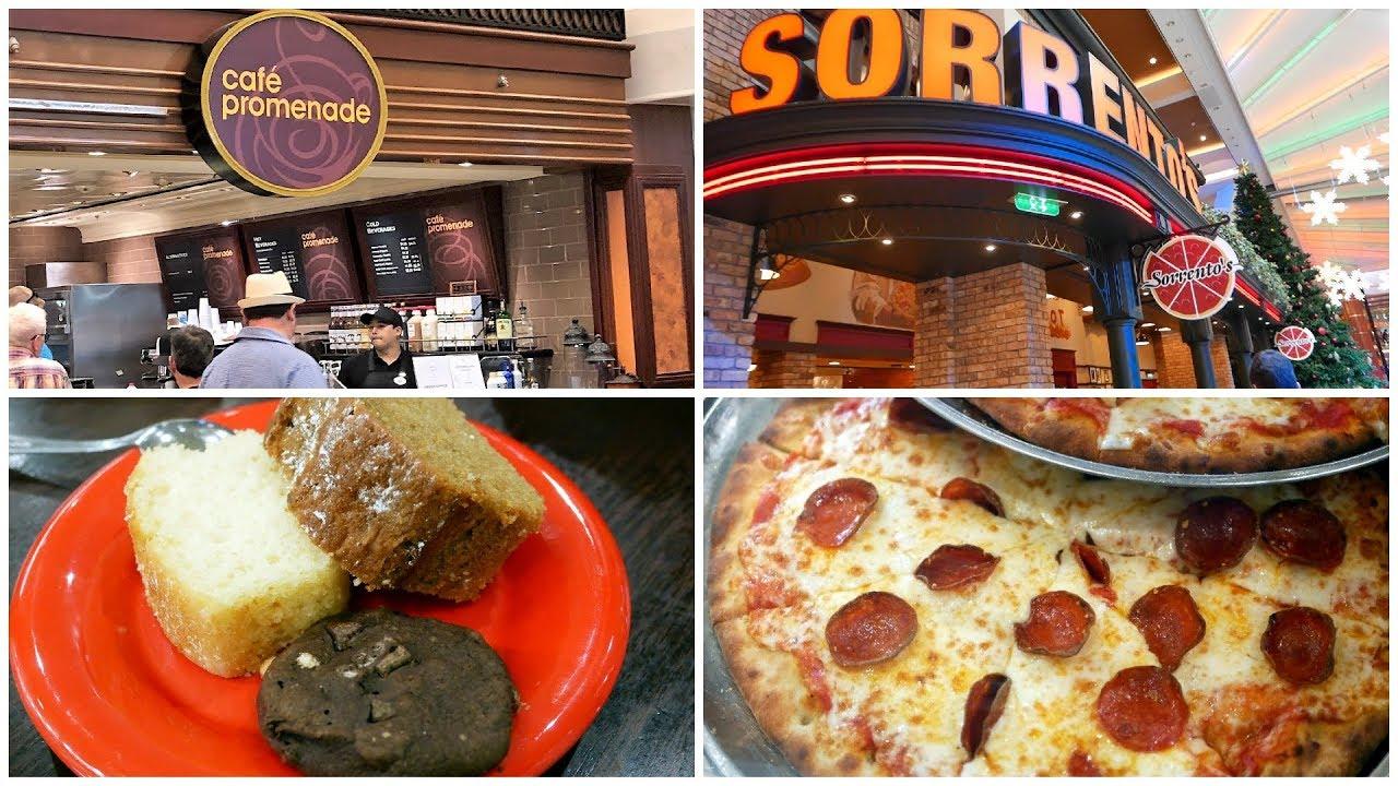 Royal Caribbean 24 Hour Eatery Cafe Promenade Sorrentos Pizza 4k