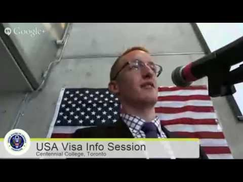 USA VISA Information Session at Centennial College - Feb 25, 2015