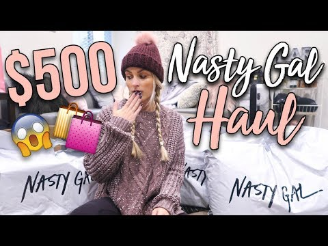 I ordered $500+ of clothes from Nasty Gal // TRY-ON HAUL!