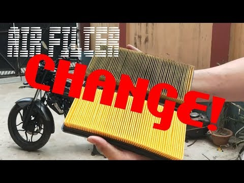 Air Filter Change at Home || Bajaj Pulsar NS200