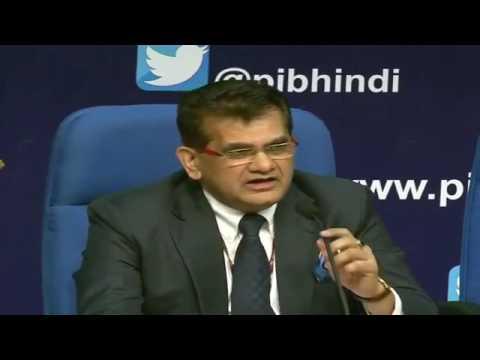 NITI Aayog CEO Amitabh Kant addresses press conference