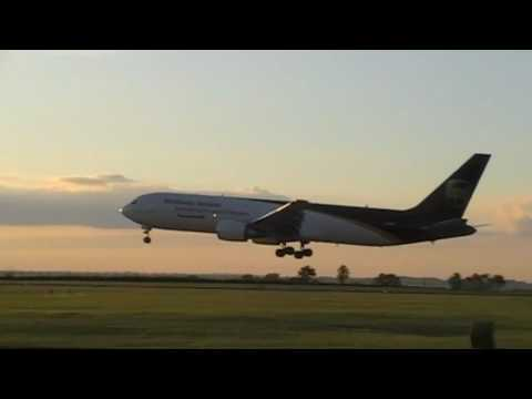 Plane Spotting At East Midlands Airport Freight cargo Action