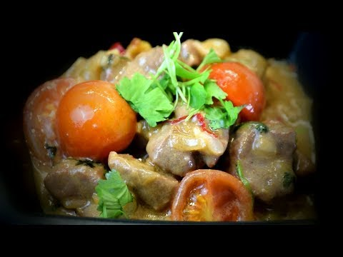 Coconut Lamb With Chilli & Kaffir Lime Leaves (Asian Cooking Recipe)