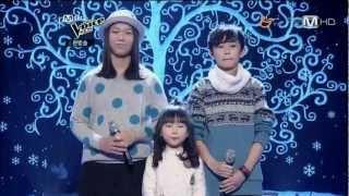"""韓國三個小朋友表現的感人美聲"""" 雪之花 """"(日語:雪の華) 雞皮疙瘩會起來"""