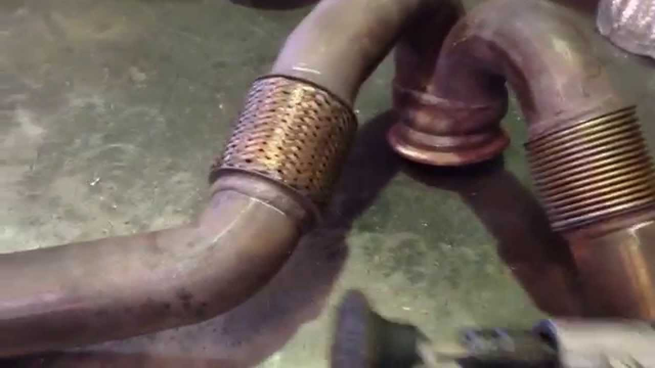 how to repair ford 6 0 y pipe [ 1280 x 720 Pixel ]