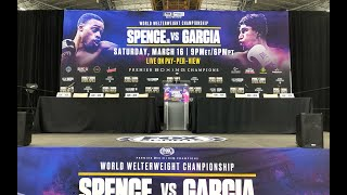 ERROL SPENCE JR. VS MIKEY GARCIA LIVE FINAL PRESS CONFERENCE !!