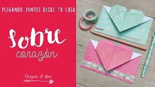 Sobre Corazón ♥  Origami paso a paso