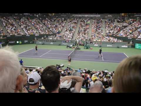 Vasek Pospisil Defeats Andy Murray at the BNP Paribas Open Tennis Tournament 2017