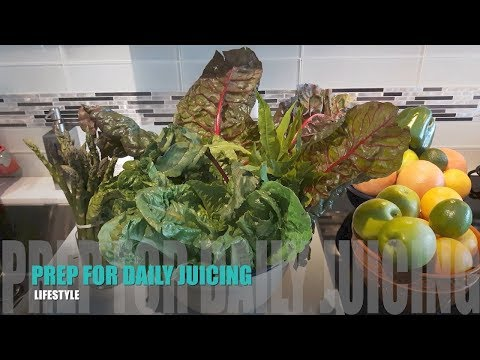 How to  Get Organized to Juice Daily - Wash Prep Store Fruits Veg
