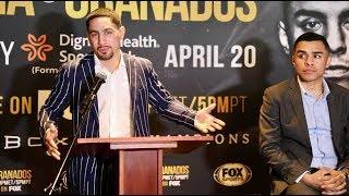 DANNY GARCIA & ADRIAN GRANADOS TRADE INSULTS BACK & FORTH HEATING UP THE PRESSER IN LOS ANGELES