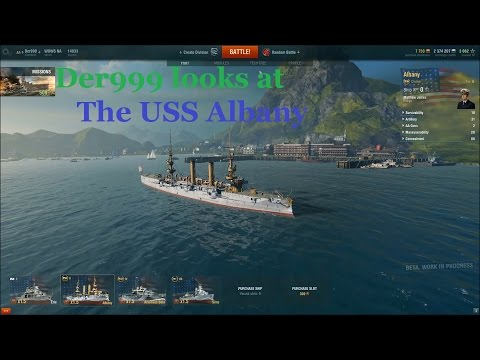Der999 Looks at the USS Albany in World of Warships Open Beta