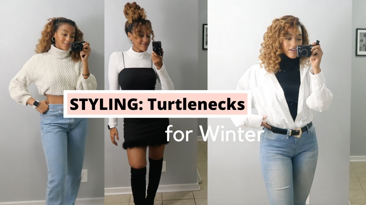 TURTLENECK TRY ON & STYLING HAUL ! How to style turtlenecks for Winter