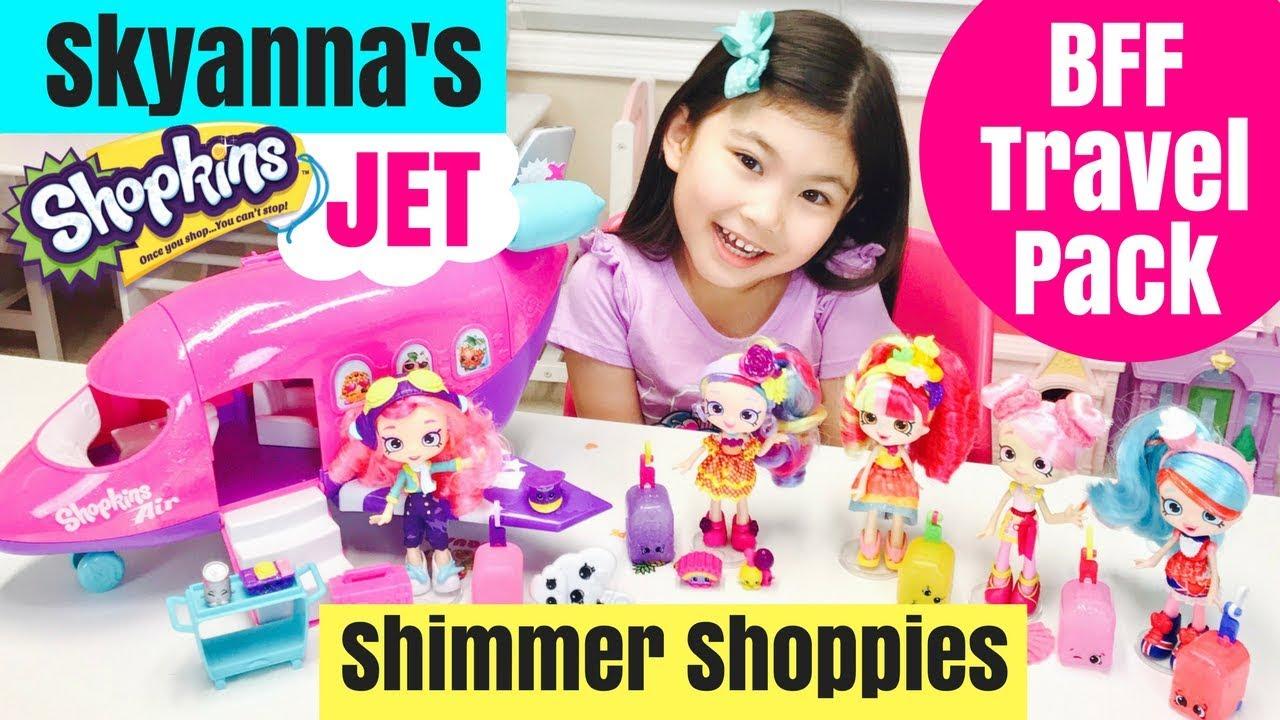 Marvelous Skyanna Shopkins Jet + Shimmer Shoppies BFF Travel Pack Rainbow Kate  Jessicake Bubbleisha Donatina
