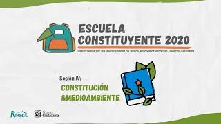 Escuela Constituyente 2020 - Sesión 4: Constitución y Medio ambiente