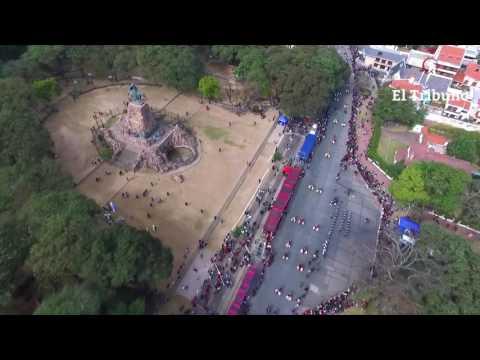 Mirá el desfile por los 196 años de la muerte de Güemes desde el aire