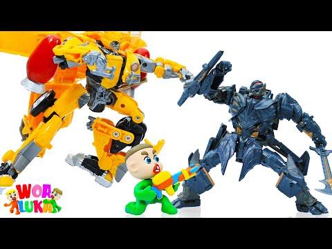 Vui Học cùng bé Luka 🚛 Chơi Xe Đồ Chơi Robot 🚛 Tập số 260 Hoạt hình Vui Nhộn Cho Trẻ Em