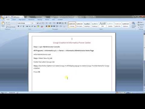 Informatica Administration Training Tutorial 7 -Group Creation in Administrator Console