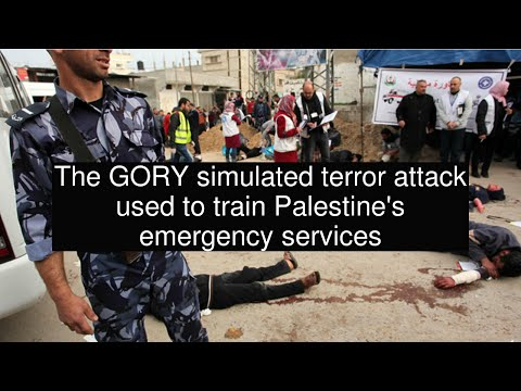 The GORY simulated terror attack used to train Palestine's emergency services