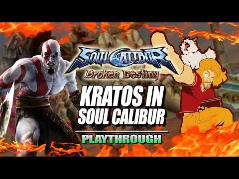 KRATOS - SOUL CALIBUR: Broken Destiny PSP  Playthrough