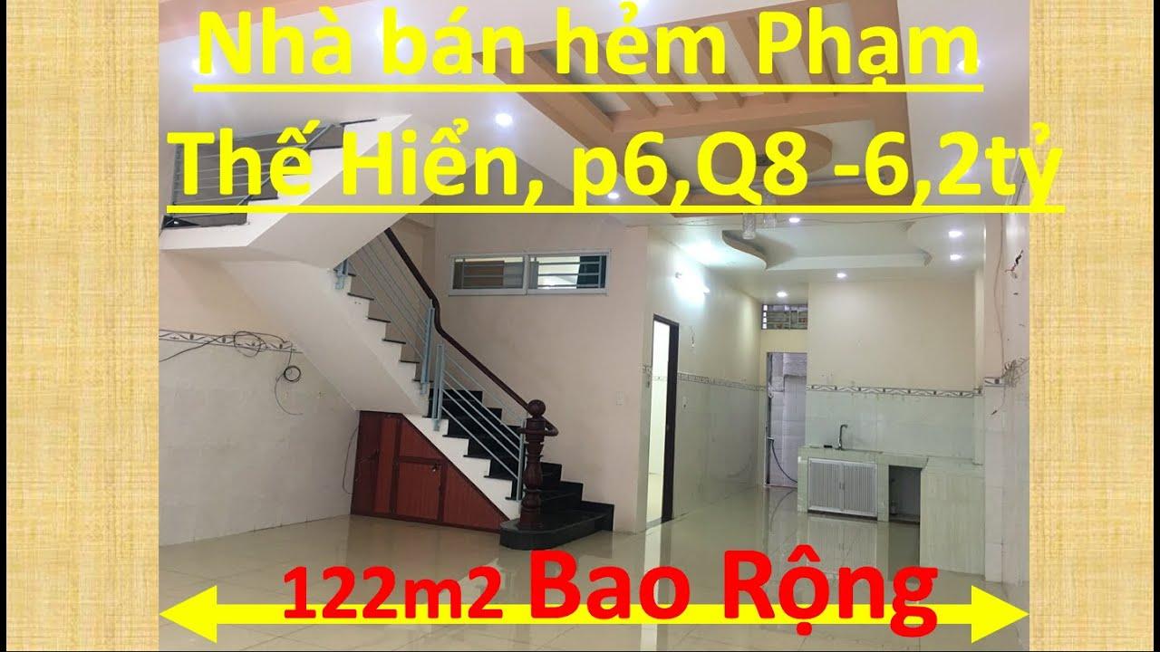 [Nhà bán quận 8] hẻm 1647 Phạm Thế Hiển, p6,Q8☎️0907 872 968
