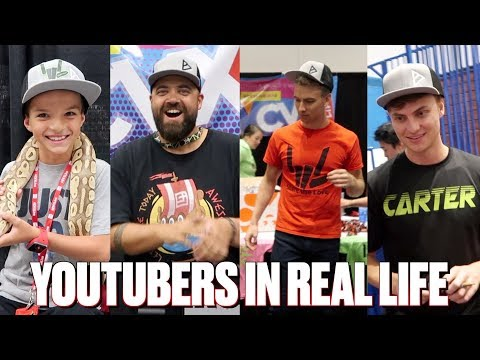 OUR FIRST YOUTUBE CONVENTION | MEETING OUR FAVORITE YOUTUBERS | STEPHEN SHARER IN REAL LIFE