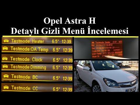 Opel Astra H Gizli Menü Ayrıntılı İnceleme
