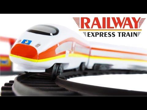 Railway Express Train High-Speed Passenger Train ICE 3 Toys VIDEO FOR CHILDREN