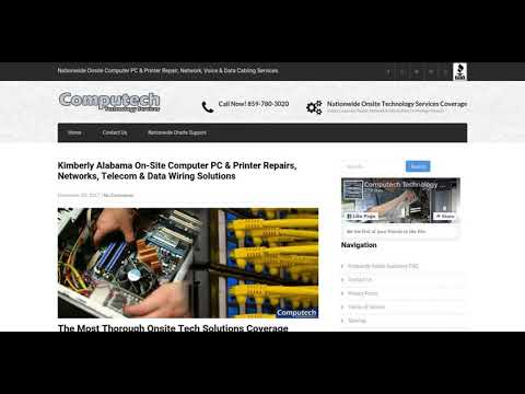 Kimberly Alabama On-Site Computer PC & Printer Repair, Networking, Telecom & Data Cabling Solutions