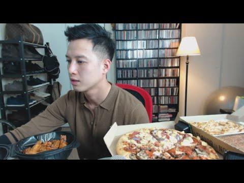 [muKbang with THIEN]: Pizza Hut, Chicken Alfredo Pasta, and Hershey's Chocolate Brownie