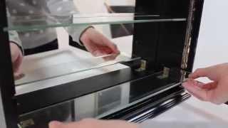 Shot Glass Display Case Shelf Adjustability - Shgsd Series