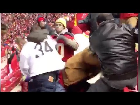 Massive Drunken FIGHT Breaks Out During Raiders vs Chiefs