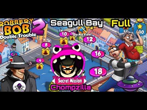 Robbery Bob 2 Seagull Bay Secret  Mission - Use Chompzilla - Teleportation Mine - Energy Drink