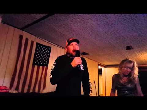 Karaoke night at the Moores.