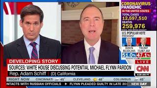 Rep. Schiff on CNN: With Potential Flynn Pardon, Trump Acting Like Organized Crime Figure