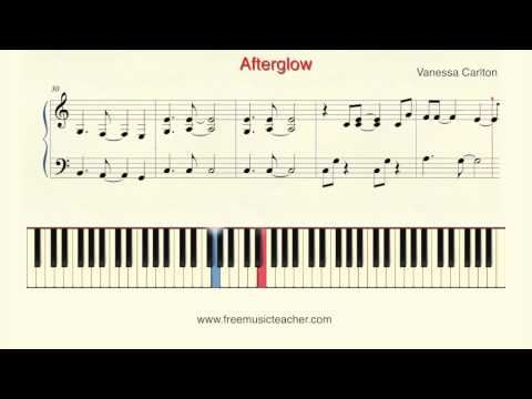 How To Play Piano: Vanessa Carlton Afterglow Piano Tutorial  Ramin Yousefi