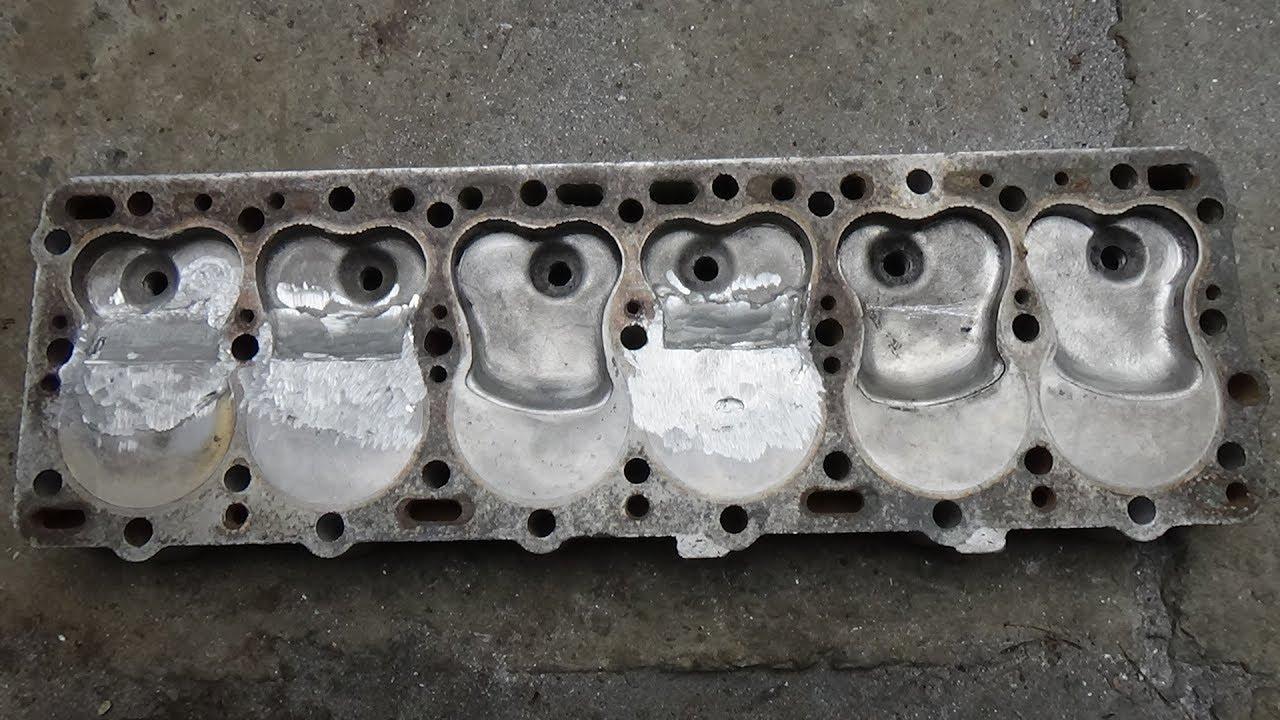 Увеличение степени сжатия ГБЦ ГАЗ 51-52 ,часть №3 предварительная обработка .