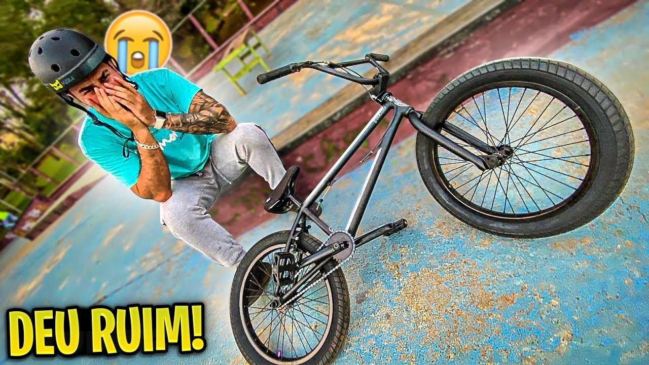 PRIMEIRO ROLÊ DE BMX E JÁ DEU RUIM 😢 !!