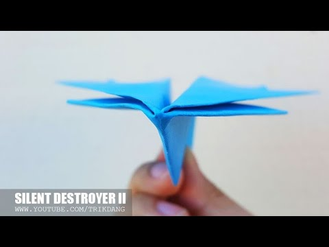 LONG DISTANCE PAPER AIRPLANE - How to make a Paper Airplane that FLIES FAR | Silent Destroyer II