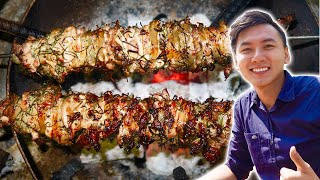 Grilled BLACK PORK in a SPECIAL style of the Dao | Ha Giang Tourism # 4