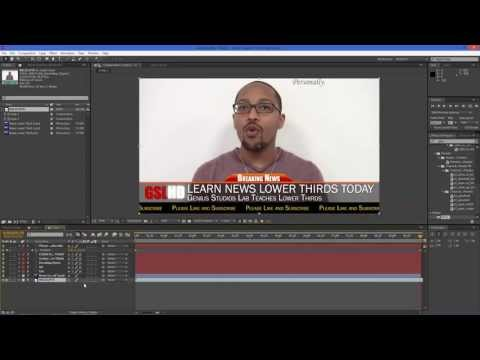 Designing News Style Lower Thirds In After Effects