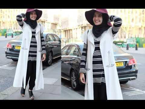 Model Baju Muslim Hitam Putih Youtube