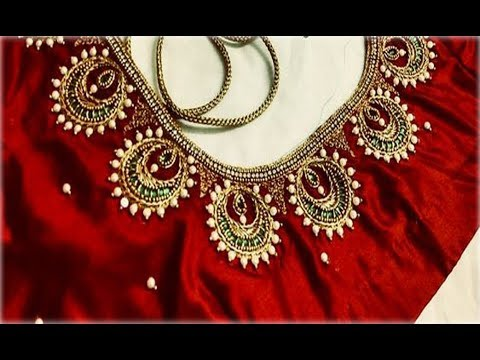 Simple Embroidery Work Blouse Back Neck Designs For Party Wear Maggam Work Aari Work Hand Work Youtube,Traditional Japanese House Design Pictures