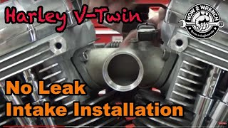 TC Series: 22 How to install a Harley  Intake Manifold and Carburetor without causing intake leaks!