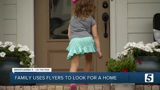 Family goes door-to-door handing out flyers to find a home for sale