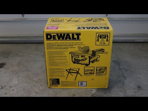 Dewalt Table Saw With Stand DW745S Unboxing, Setup, and Review
