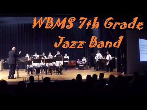 Jazz Music - The William Byrd Middle School 7th Grade Jazz Band Spring 2017 Performance